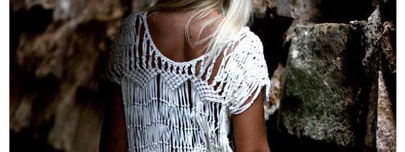 vestido verano macramé