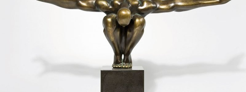Muebles-Escultura-atleta-bronce