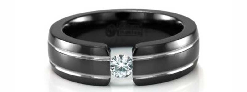 anillo titanio negro