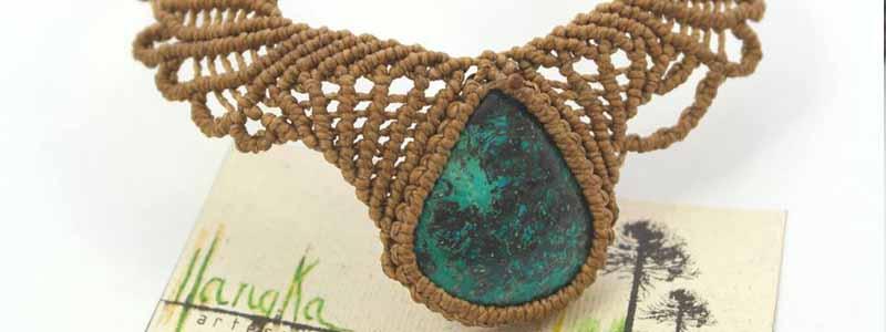 collar azurita